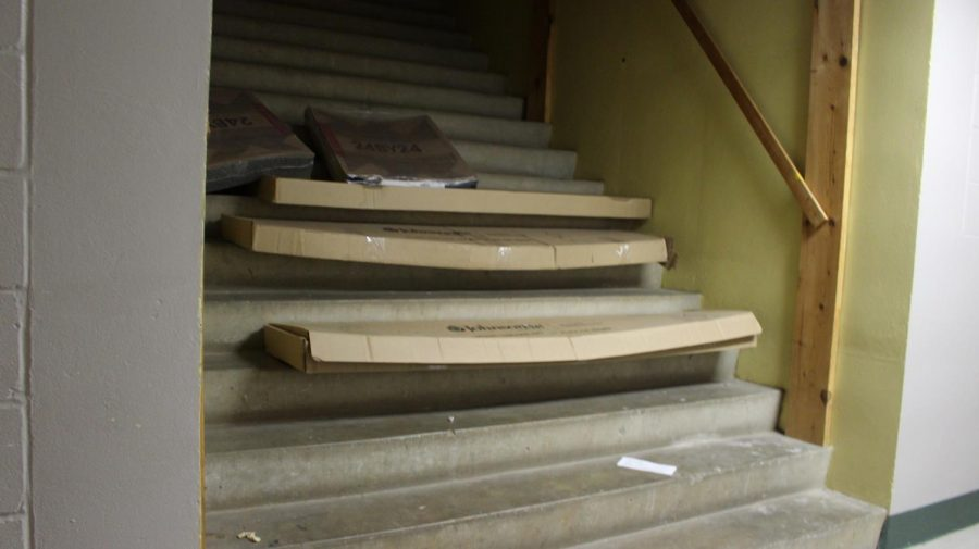 The stairs are located in the basement