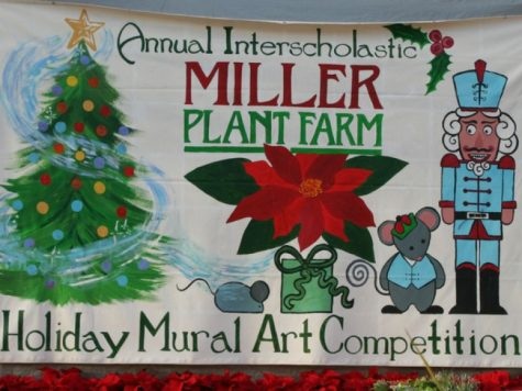 Students Create Winter Mural for Annual Art Show