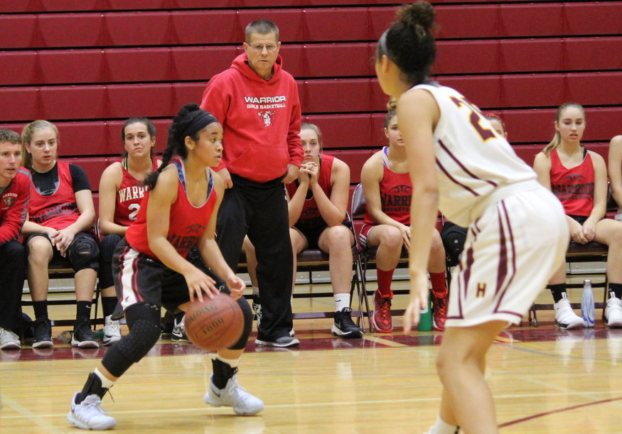 +Junior+Jayla+Galbreath+dribbles+the+ball+down+the+court.+%0APhoto+by%3A+Leah+Miller