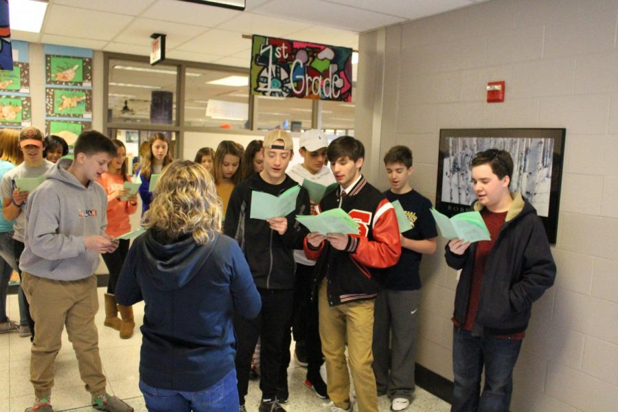 Spanish Students Sing Carols to Southern Elementary Students