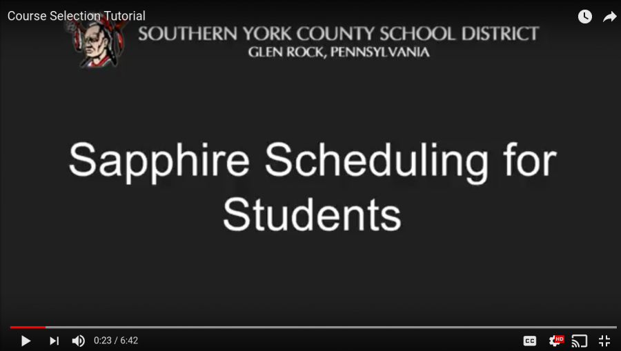 Students Schedule Courses on Sapphire with Counseling Tutorial