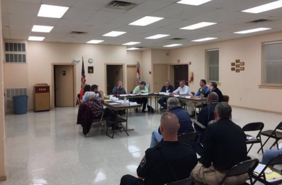 Board members meet to discuss the future of Southern Regional Police Department.