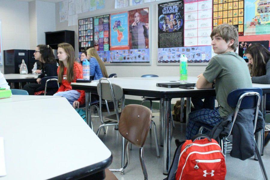 Students+wore+pajamas+on+Monday+for+Mini-THON+Spirit+Week.