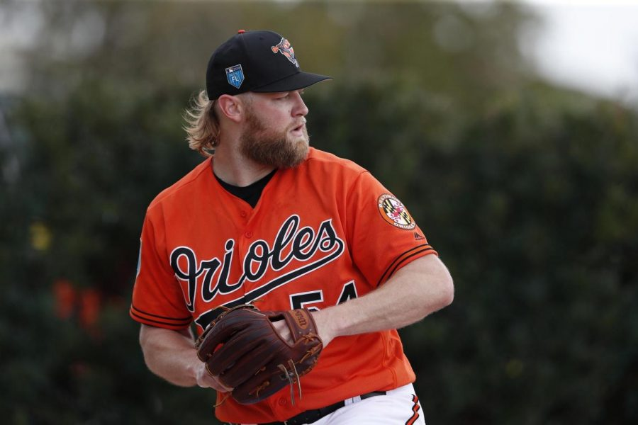 Pitcher Andrew Cashner making his first start with the Orioles.