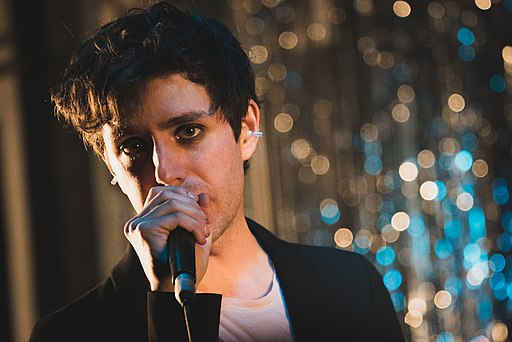 Ezra Furman is a genderqueer indie artist who released a new album on Feb 9.  Photo by By Paul Hudson from United Kingdom (Ezra Furman at Rough Trade), via Wikimedia Commons.