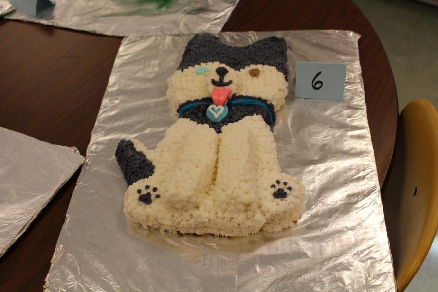 The dog cake came in first place, made by Sean Orndorff and Phillip Rowe. Photo by Grace Gorham