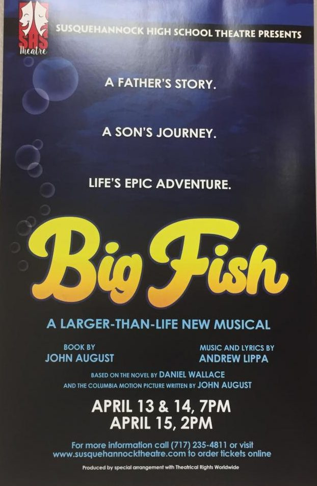 Big Fish poster hanging in the hallway of SHS.