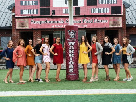 The 2018 Susquehannock High School Homecoming Court, from left: Audra Thomas, Kenna Hancock, Theresa Falzone, Alaina Stomgren, Elizabeth Minacci, Hannah Dorr, Alyson Houska, Samantha McGuire, Gillian Snader, Jessica Fox, and Alexandra Krahl.