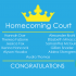 2018 Homecoming Court Announced