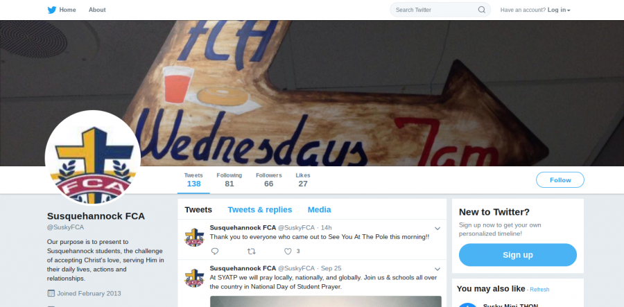 For any student interested in FCA they can follow @SuskyFCA on twitter for updates about meetings and events.