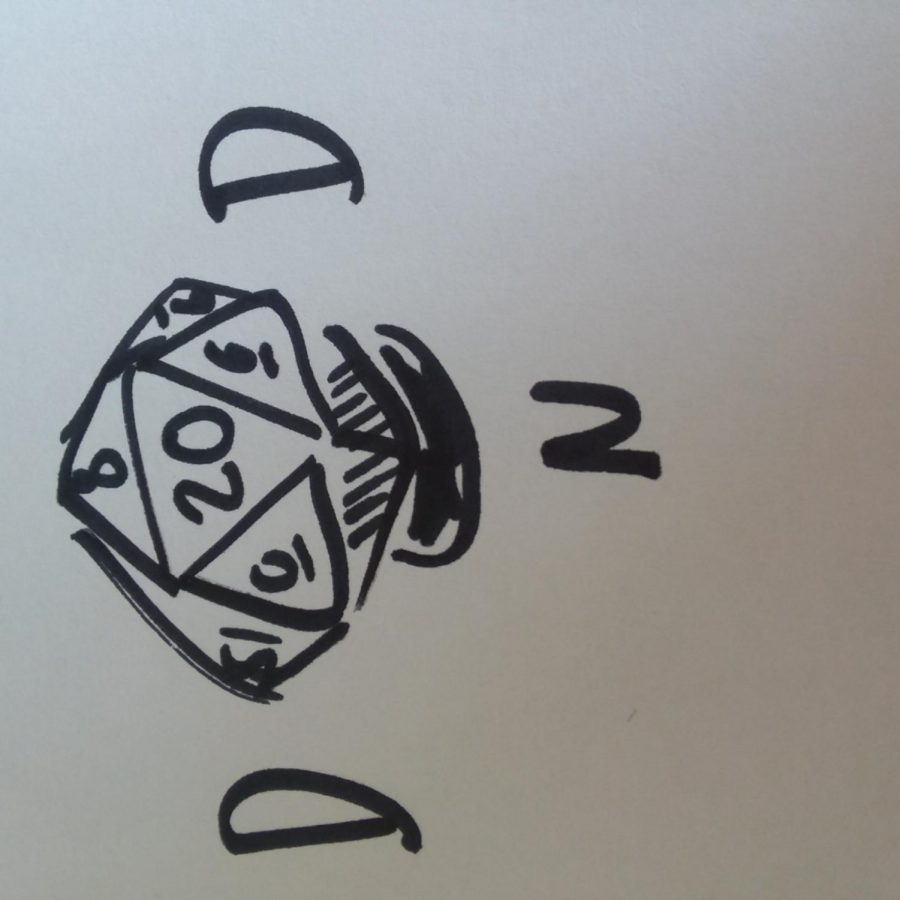 This is a sketch of a 20-sided dice.   Photo by Addotta