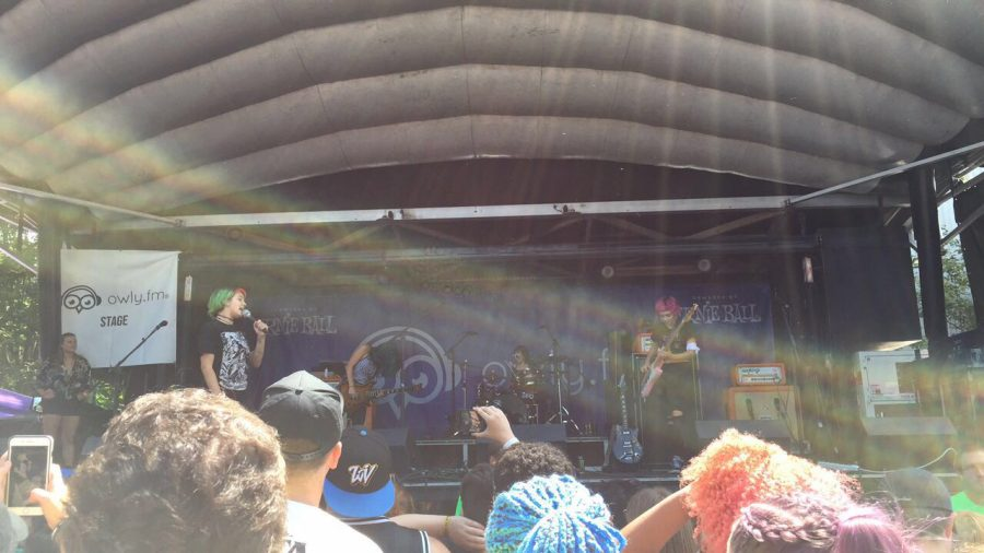 The band Doll Skin performs at the Columbia, Maryland date of the final Vans Warped Tour. Photo by Anna Feild.