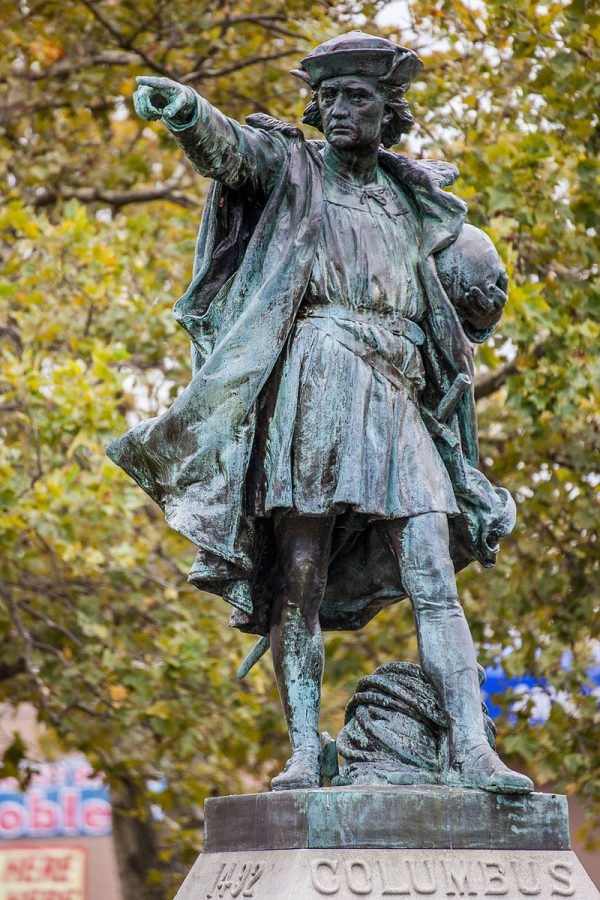 Statues of Columbus honor the man across the world.  Photo By Kenneth C. Zirkel [CC BY-SA 3.0  (https://creativecommons.org/licenses/by-sa/3.0) or Public domain], from Wikimedia Commons