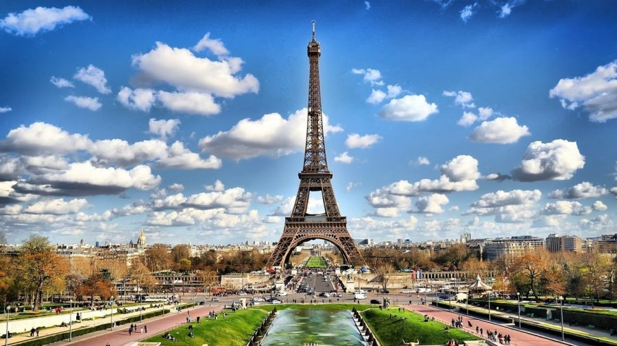 A landscape picture of the Eiffel Tower in Paris France.  Photo from booking.com