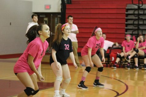 Girls Volleyball Hosts their Annual Dig Pink Event