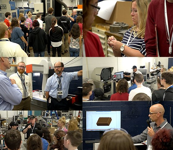 Susquehannock students toured the two buildings at Crescent Industries. Photo courtesy of @CrescentInd on Twitter.