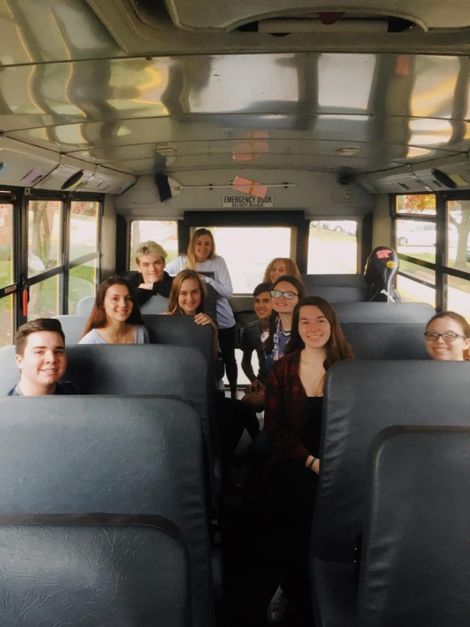 Students make their way to LVC for the second and final time of the festival, excited to start the day.