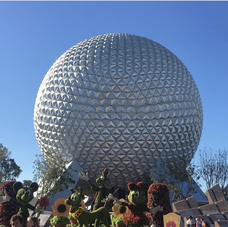 Walt+Disney+Worlds+Epcot+ball.+This+large+structure+is+placed+at+the+entrance+and+within+it+is+a+ride+which+informs+the+riders+about+the+past%2C+present%2C+and+future.+%0A%0APhoto+by+Abby+Paterniti
