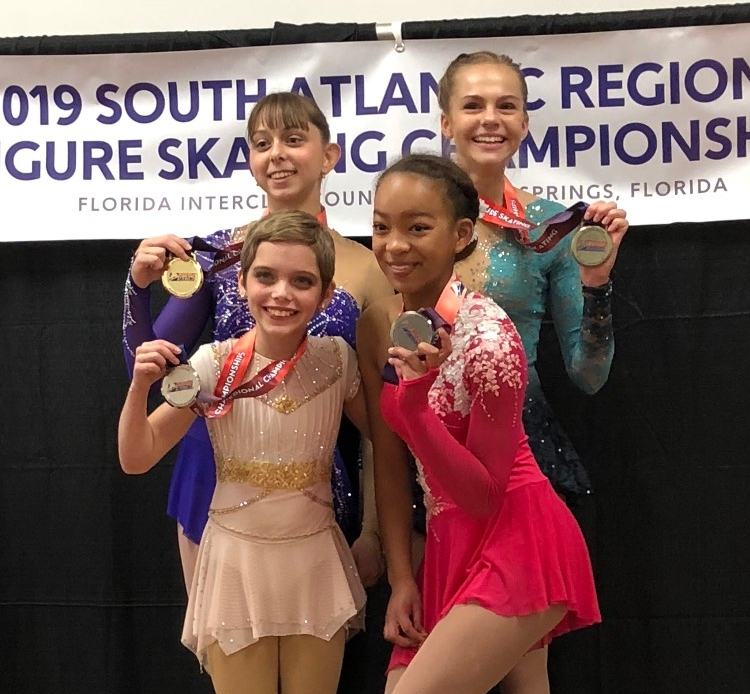 Mia+Eckels+placed+second+in+the+2019+South+Atlantic+Regional+Championships+%28pictured+top+left%29.+Photo+courtesy+Mia+Eckels.+