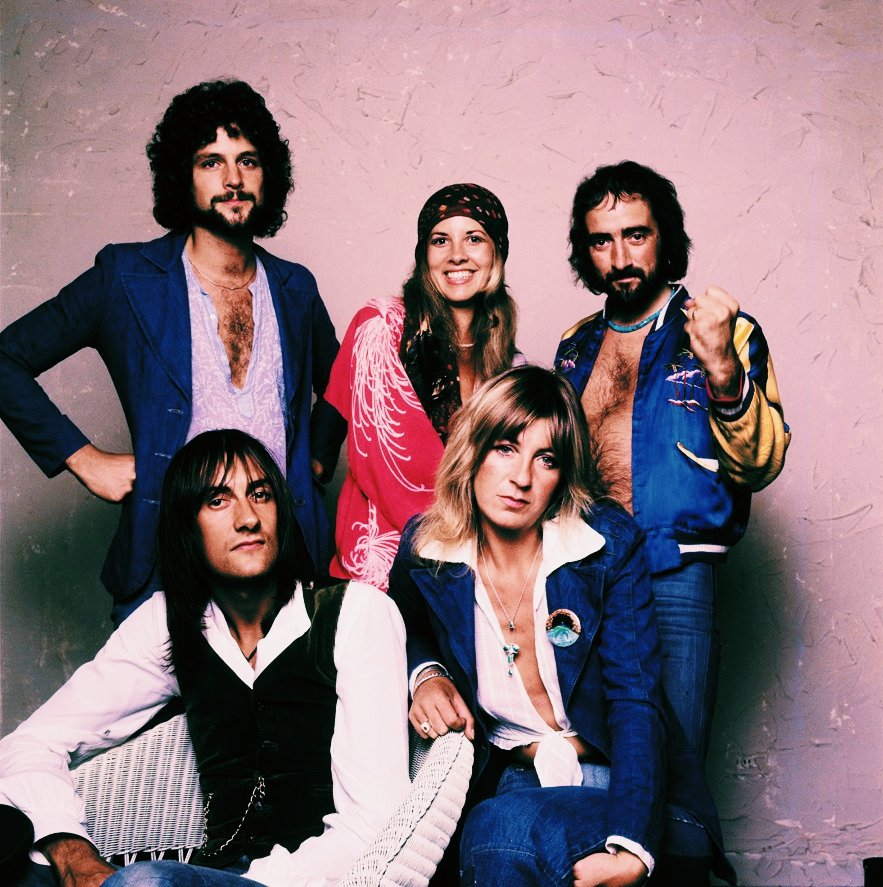 The band during a promotional photo shoot in the 70's. Photograph by: Sam Emerson (1975)