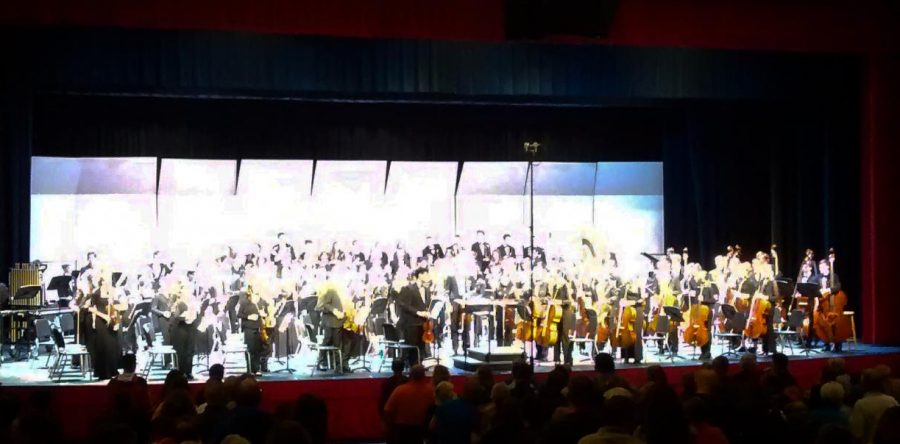 Many students from Susquehannock participated in the 2017 PMEA District 7 Orchestra. Photo by Karen Feild