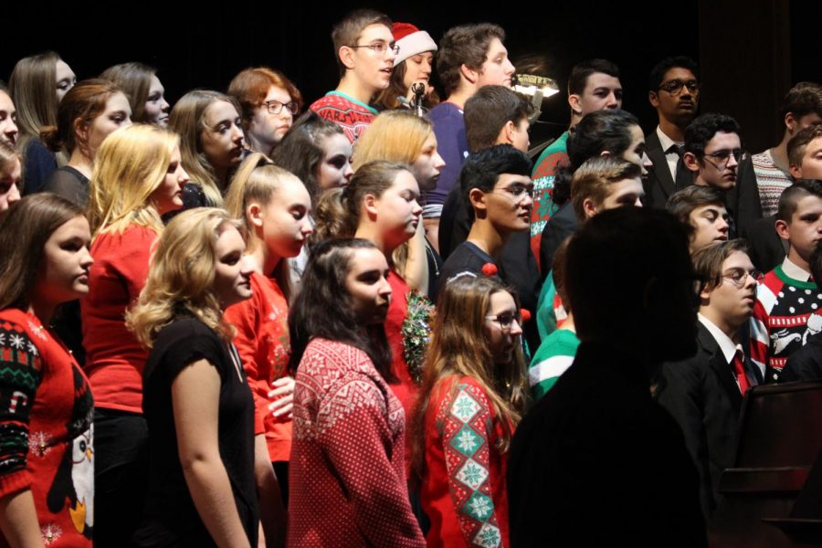 The choir finished off the concert with Hallelujah,  inviting the audience to stand with them in the annual ending to the performance.