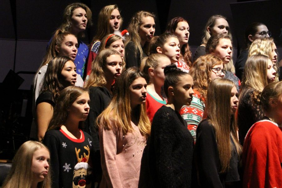 """""""Our holiday concert is one of the biggest ones and everyone really enjoys that one...it's the most popular, said senior Alex Fabie. It's actually the most crowded because we have three ensembles performings at once."""""""