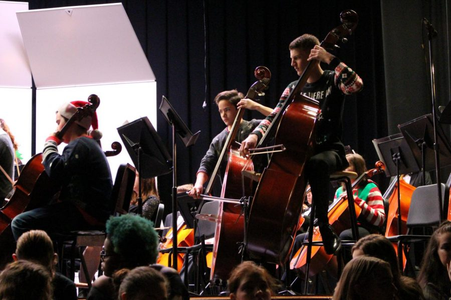 The orchestra played one of the more famous holiday songs from the Trans-Siberian Orchestra.