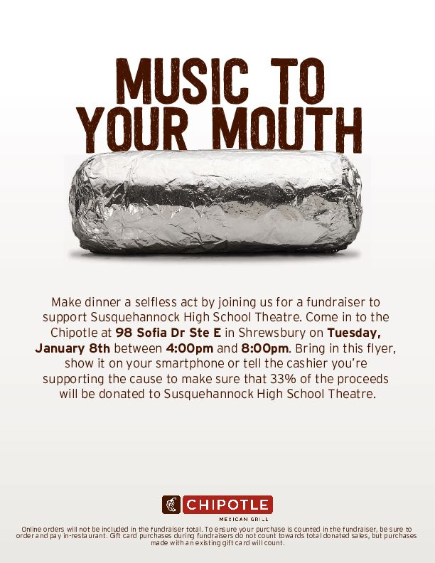 Use+this+flyer+at+Chipotle+on+Tuesday%2C+Jan+8+to+donate+part+of+your+payment+to+Susquehannock+Theatre.