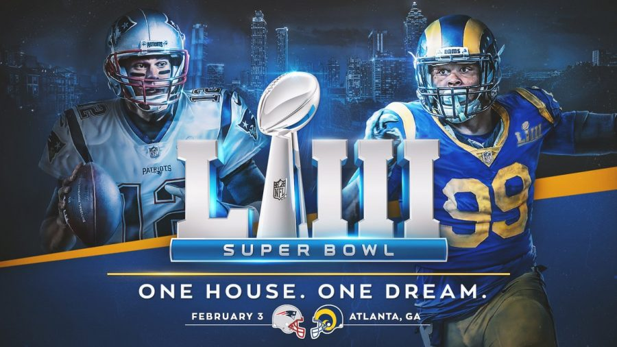 The poster that was advertised for the super bowl. QB Tom Brady [left] DT Aaron Donald [right].  via @Rams