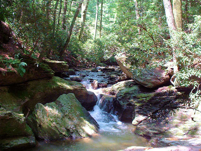Waterfalls are able to be seen at Tucquan Glen Nature Preserve. Photo courtesy of Wikimedia commons