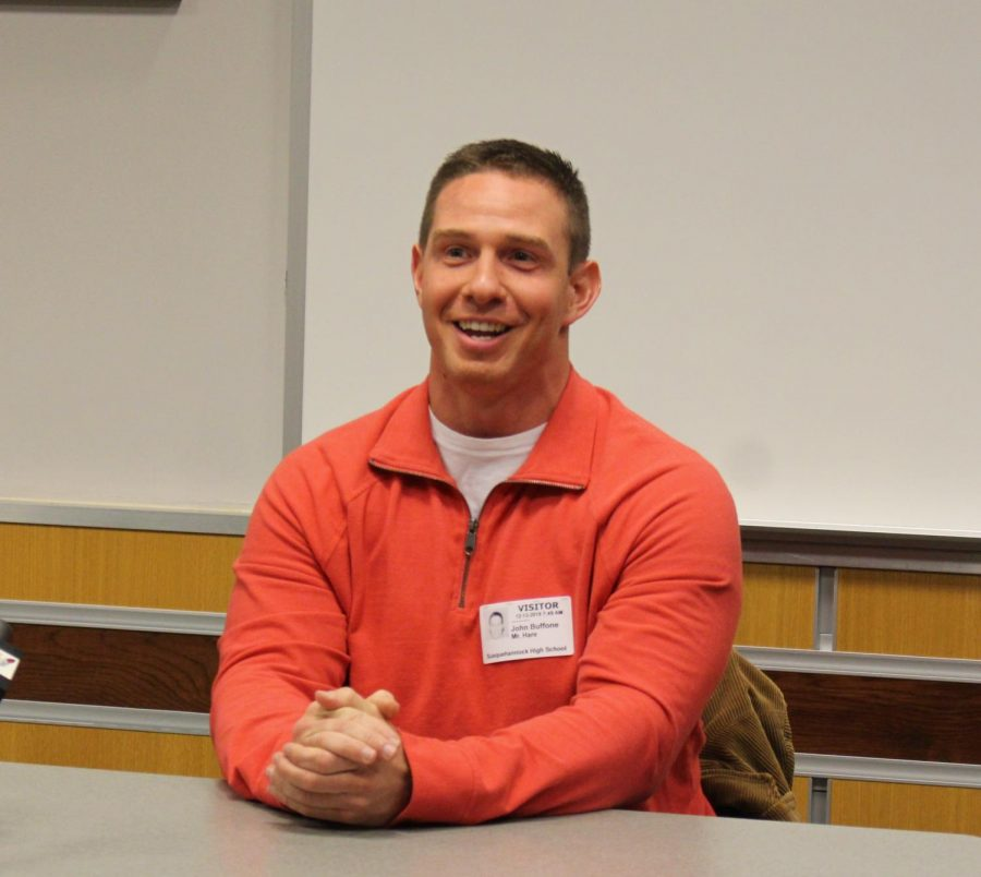 John Buffone shares his advice with students.