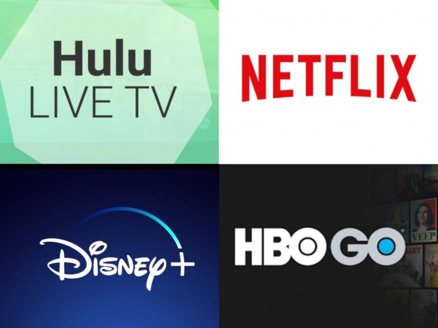 The core four streaming services that people are using. Image courtesy of  Google