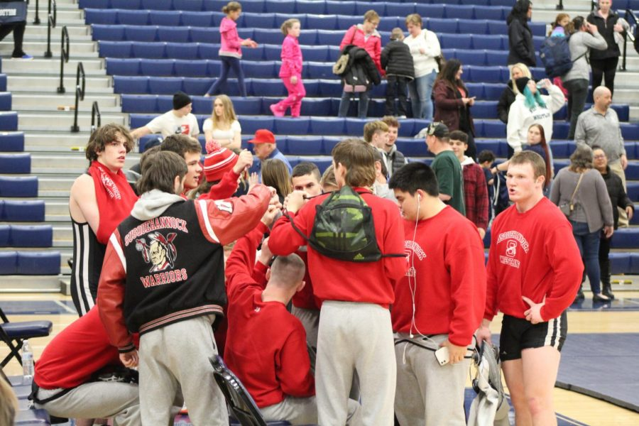(Jan. 2020) The wrestling team defeats West York 48-31 making their season record 9-7 heading into their final match. The Warriors will not qualify for the District 3 tournament as a team; however, several individual Warriors will make way to district rounds hosted at Spring Grove Area High School. Photograph by Mackenzie Womack