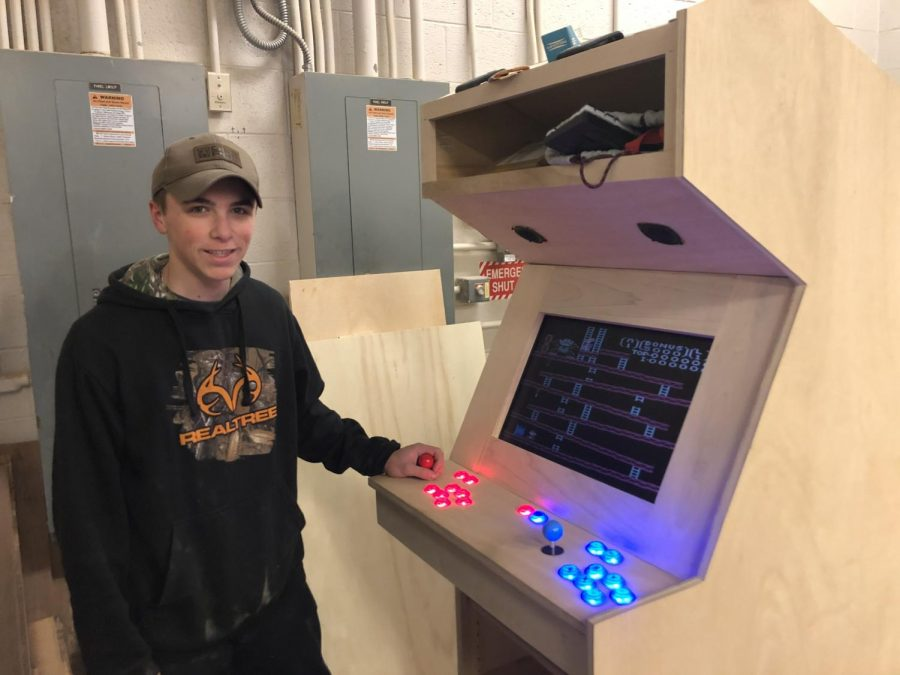 Senior Goes Retro with Arcade Game