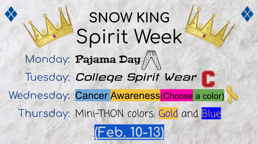 Each day this week has a different theme for students and staff to participate in. Screenshot courtesy of Mini-THON