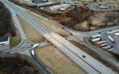 Aerial shot of the old intersection at Exit 4. Photograph Courtesy of The York Dispatch
