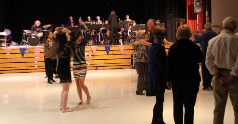 People dance to the jazz band