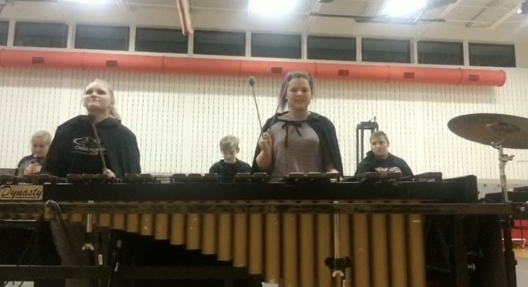 Indoor Percussion Travels through Time