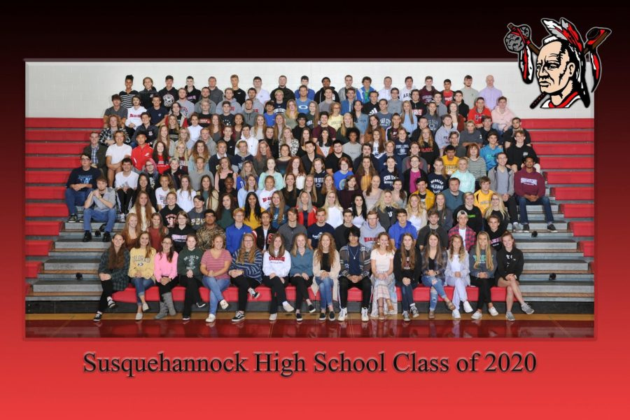 The class of 2020 poses for their class picture. Photograph courtesy of Jessica Beste.