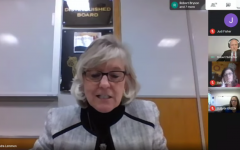 Superintendent Dr. Sandra Lemmon thanking Southern York county staff during board meeting. Screenshot by Kai Fleming.