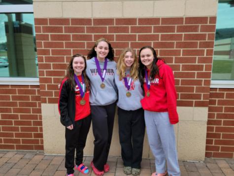 Girls Swim Team Ends the Season as Division II Champions