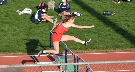 Ryleigh Marks hurdles in her race, the 100 meter hurdle, where she broke the record that was set in 1980.