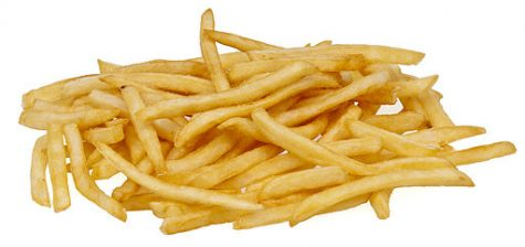 French fries are seen as a common American fast food side dish. Photograph by Evan-Amos, Public domain, via Wikimedia Commons