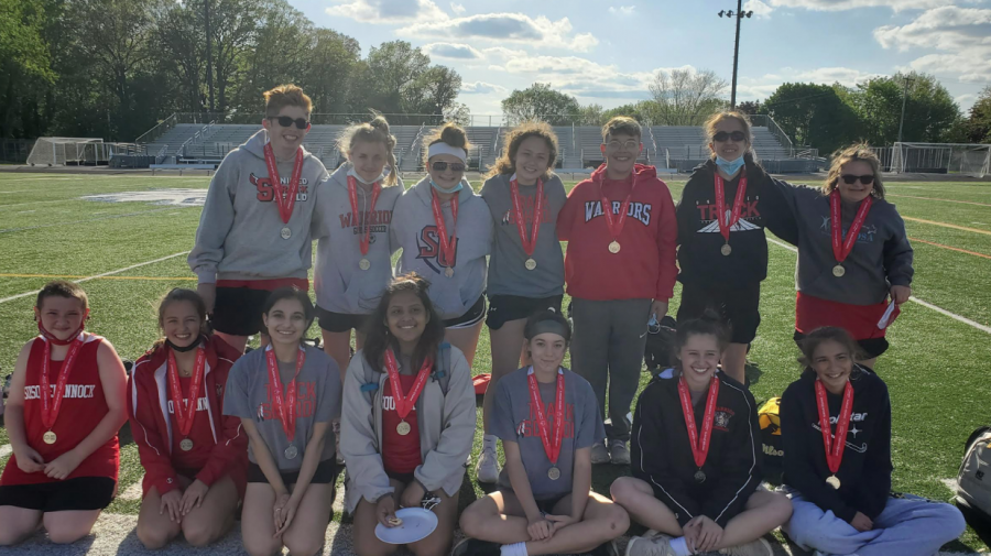 The Unified Track team, coached by Dempsey Murphy and Kristin Johnson, headed into Regionals undefeated. Regionals took place at Dallastown Area High School where the Warriors placed second out of Dallastown, Red Lion, and Susquehannock. Photograph by Kristin Johnson.