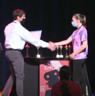 Junior Heather Cooks video The Doll won the category for Best Use of Music. Screenshot via Spring Shorts