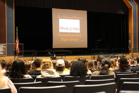 SHS students listen to Dr. McGough