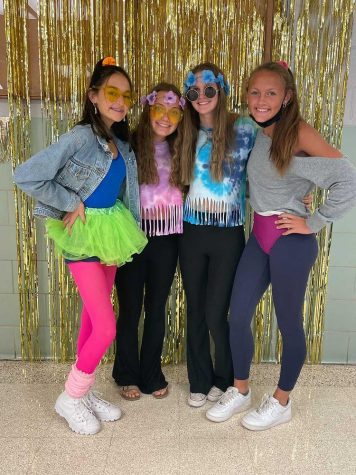 Students go back in time to dress up for Decade Day on Monday, Sep. 27. Photograph Courtesy of Ellie Dunaja